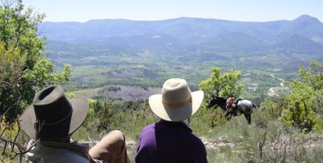 randonnée à cheval au camping des rosières